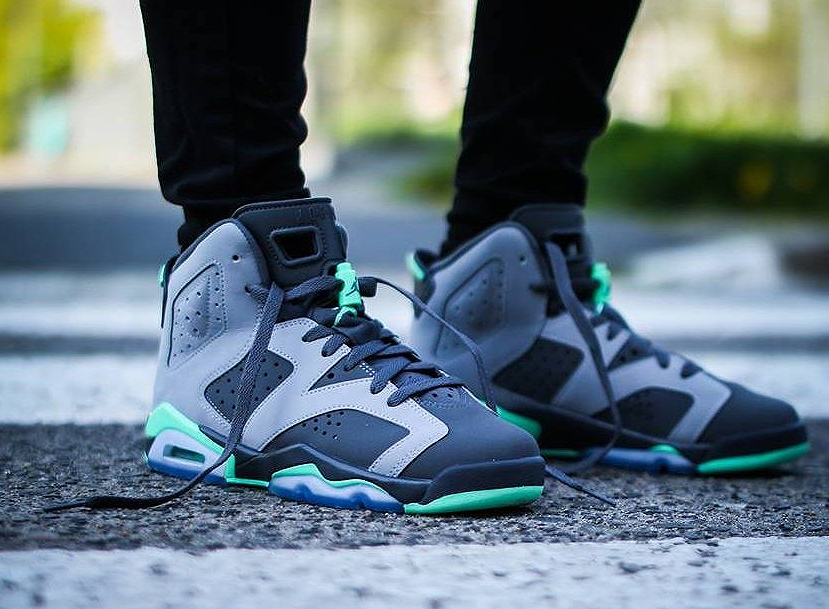 Basket Air Jordan 6 GS Retro Green Glow
