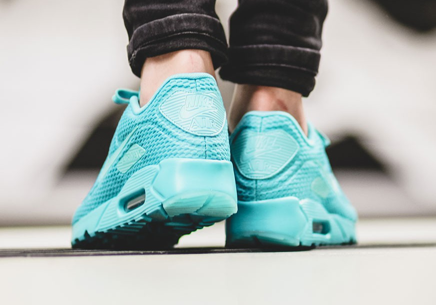 nike - air max 90 ultra br - baskets - turquoise