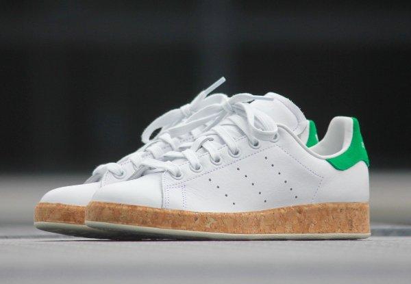 chaussure Adidas Originals Stan Smith Luxe W White Black (1)