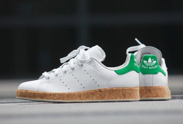 chaussure Adidas Originals Stan Smith Luxe W White Black (2)