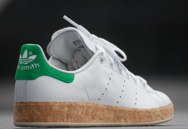 chaussure Adidas Originals Stan Smith Luxe W White Black (3)