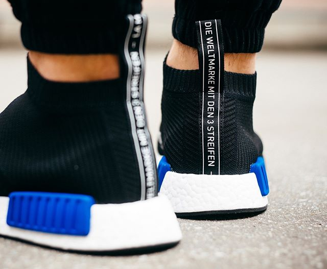 fd8c1c302 adidas nmd city sock core black lush blue