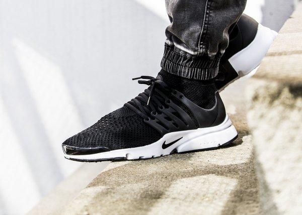 Basket Nike Air Presto Ultra Flyknit Black (noire) homme (1)
