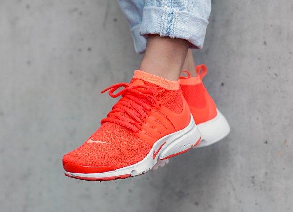 Basket Nike Wmns Air Presto Ultra Flyknit Mango Crimson (femme) (2)
