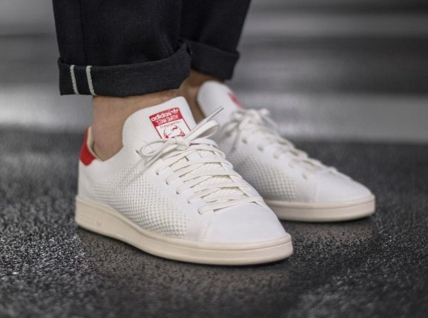 Chaussure Adidas Stan Smith OG PK (Footwear White Chalk White Red) (1)