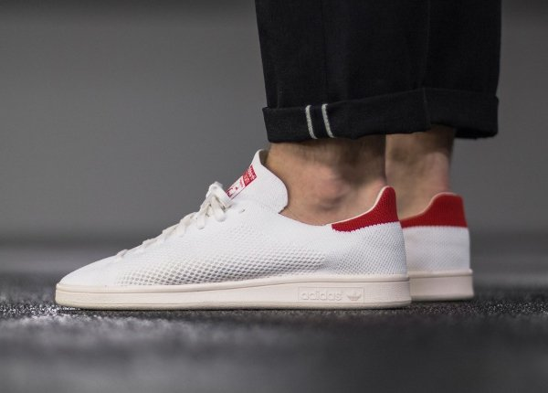 Chaussure Adidas Stan Smith OG PK (Footwear White Chalk White Red) (3)
