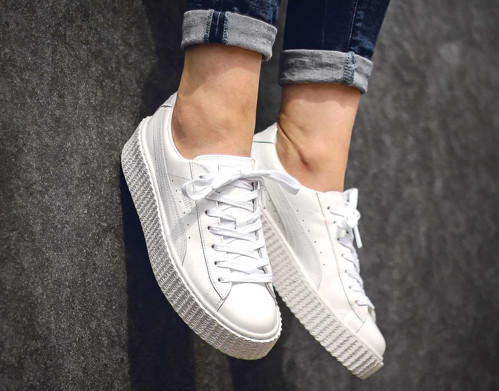 puma creepers blanche homme