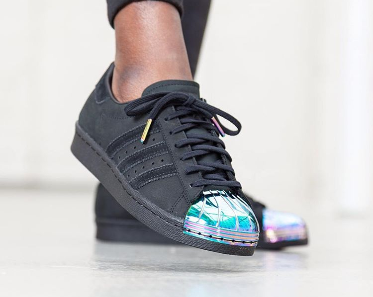 Adidas Superstar 80's W Black Suede 'Iridescent Metal Toe'