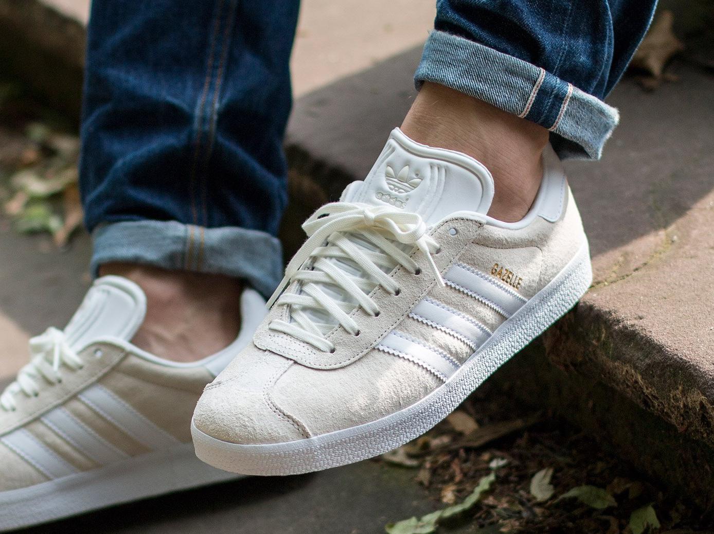 Adidas Gazelle Suede 'Off White Gold Metallic'