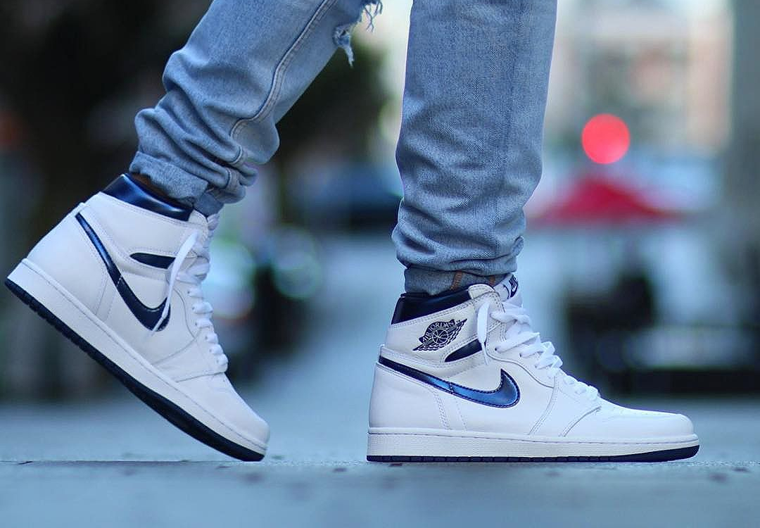 acheter basket Air Jordan 1 Retro High OG 'Metallic Navy' 2016 (2)