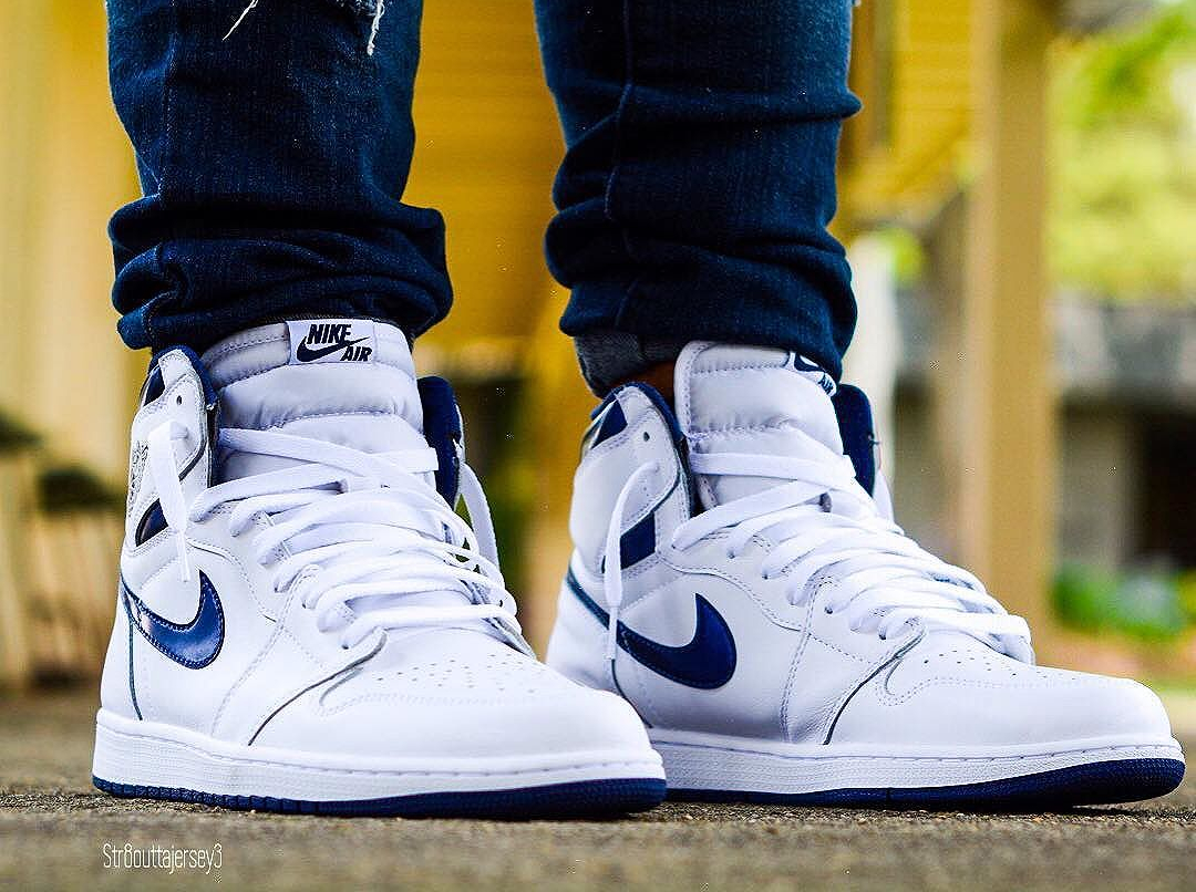 acheter basket Air Jordan 1 Retro High OG 'Metallic Navy' 2016 (5)