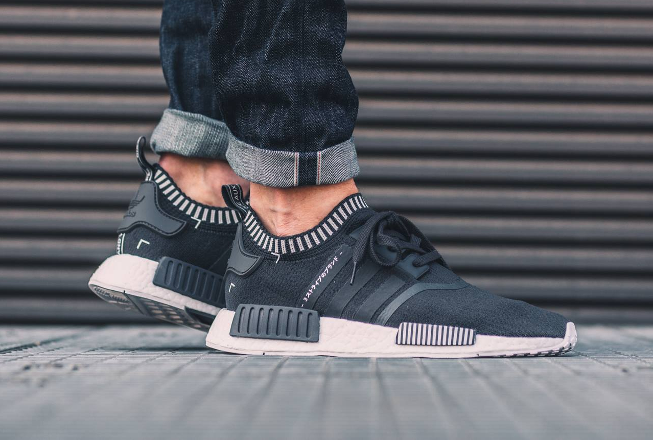 ADIDAS NMD R1 PK BLACK TRI COLOR PRIMEKNIT RUNNER