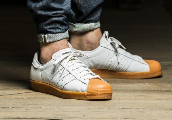 Adidas Superstar 80's DLX 'White/Gold Metallic'