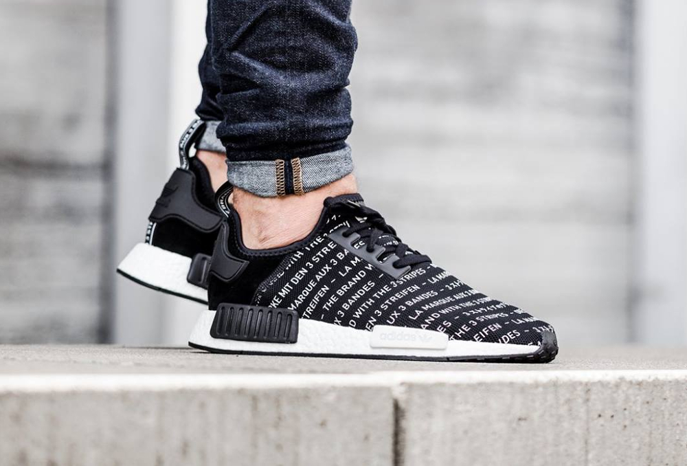 Adidas NMD R1 'Allover' Blackout & Whiteout