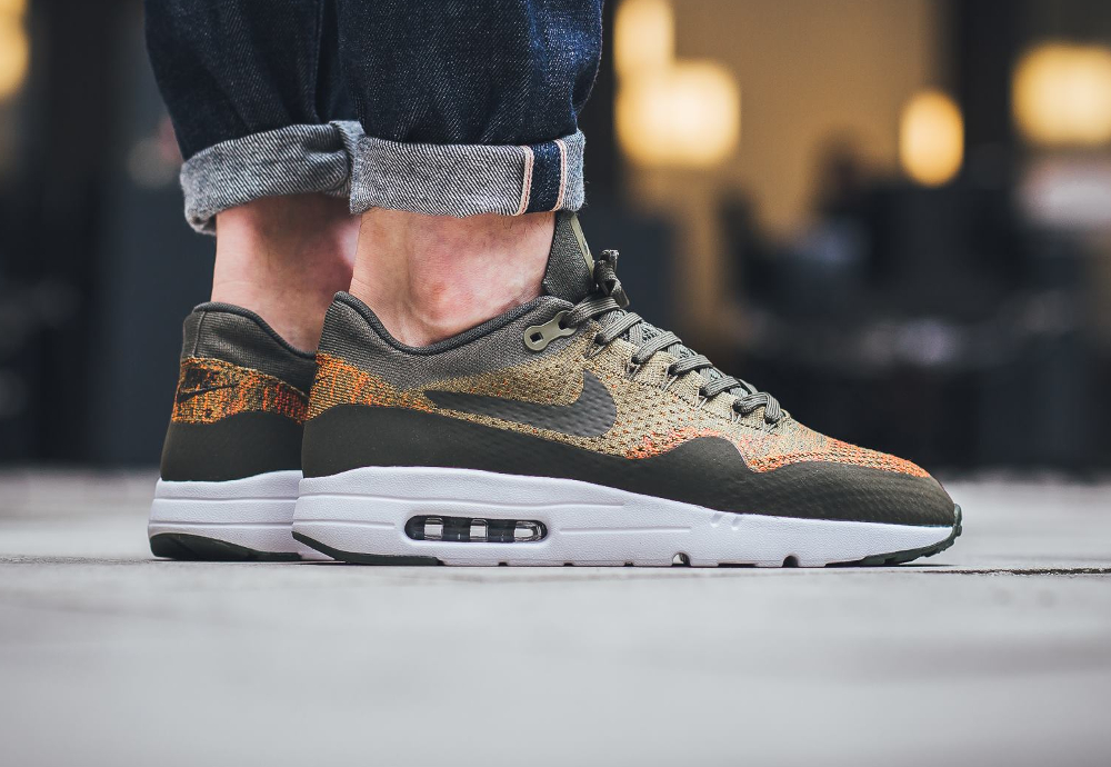 acheter chaussure Nike Air Max 1 Ultra Flyknit Olive Flak Cargo Khaki (1)