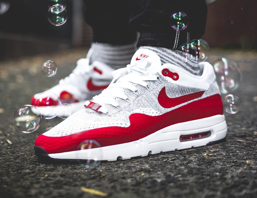 1a7c6233b5 Nike Air Max 1 Ultra Flyknit Sport Red extreme-hosting.co.uk