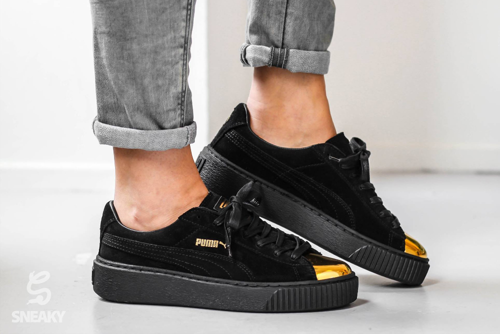 Puma Creepers Black Gold