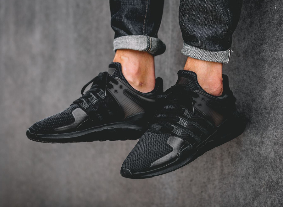 adidas EQT Support 93/17 (Triple Black) Sneaker Freaker