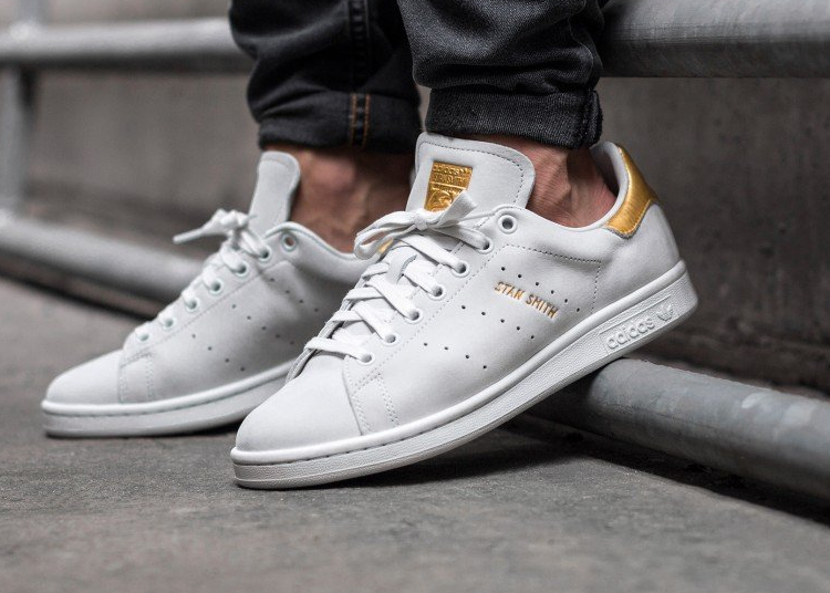 acheter chaussure Adidas Stan Smith PRM '999 Noble Metals' White Gold (dorée) (2)