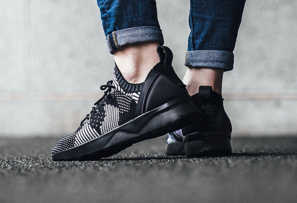 acheter chaussure Adidas ZX Flux ADV Virtue Primeknit noire Black 3D Print (femme) (2)