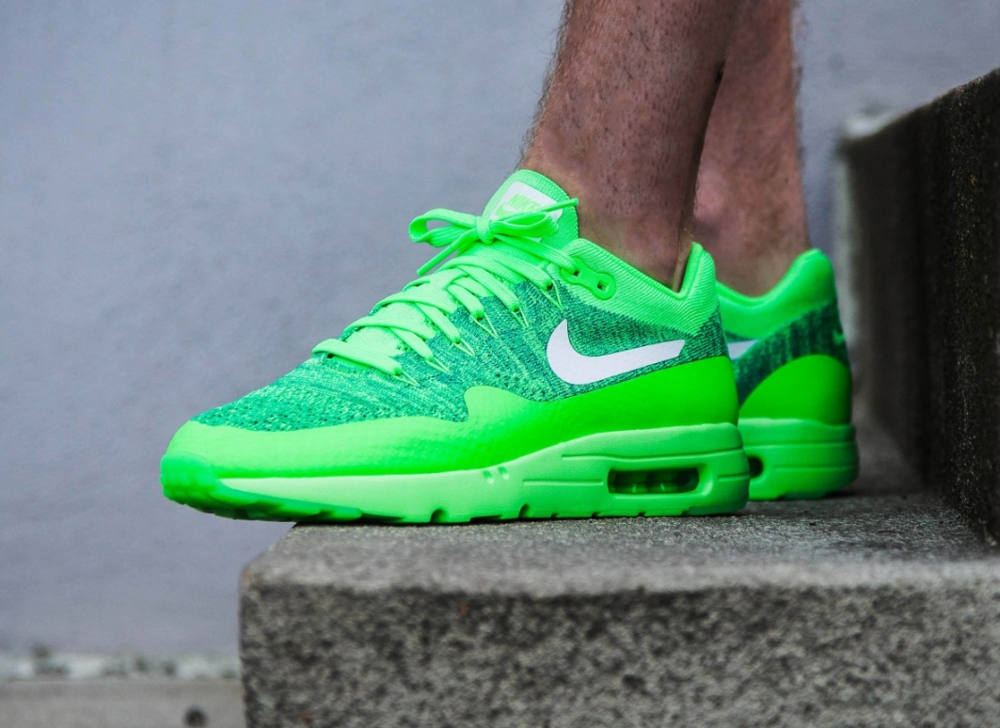 acheter chaussure Nike Air Max 1 Ultra Flyknit (Electric Green) homme