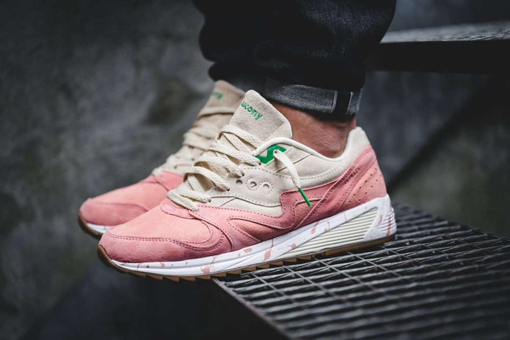 Saucony Grid 8000 'Shrimp Lobster Scampi' Cream/Pink