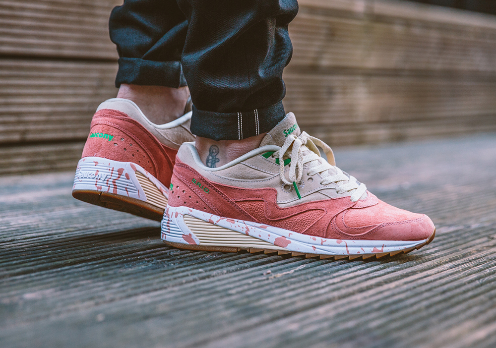 chaussure Saucony Grid 8000 'Shrimp Lobster Scampi' Cream Pink (3)