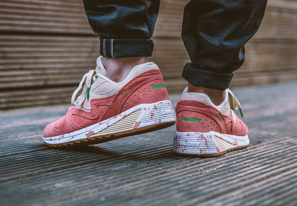 chaussure Saucony Grid 8000 'Shrimp Lobster Scampi' Cream Pink (4)