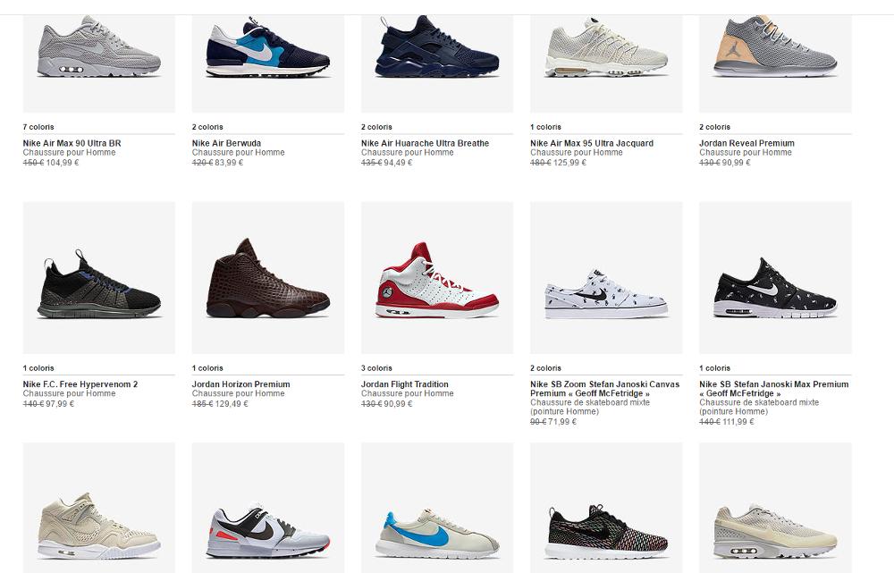 code promotion sneakers en soldes nike juillet ao t 2016. Black Bedroom Furniture Sets. Home Design Ideas