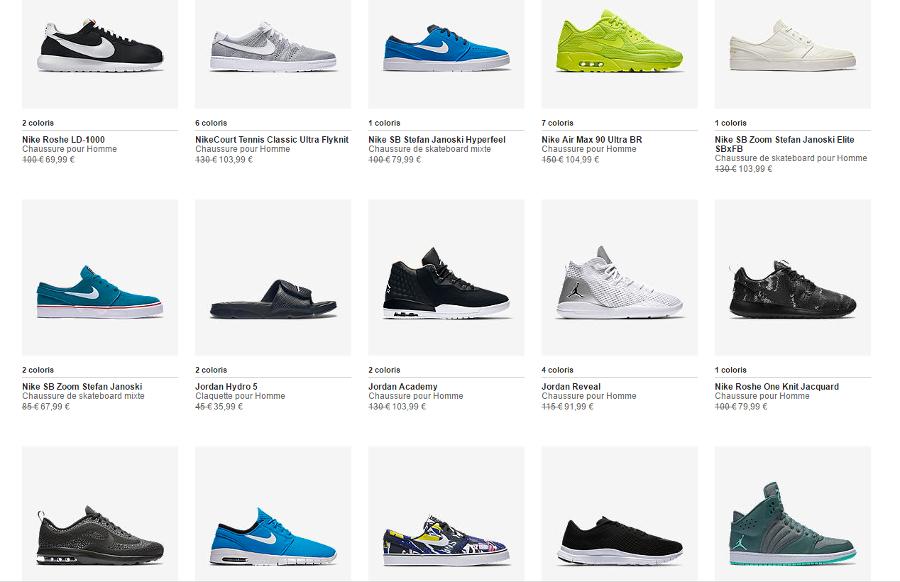 Code promotion Nike Store.fr : août 2016 post image