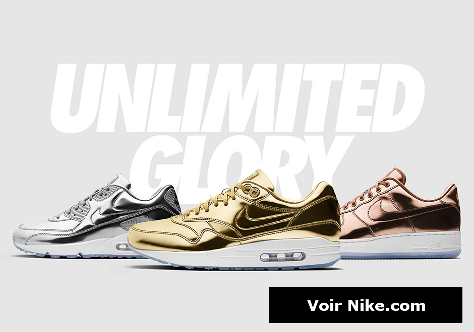 Nike ID Unlimited : Air Force 1, Air Max 1 & 90 (Gold, Silver & Bronze Medal)