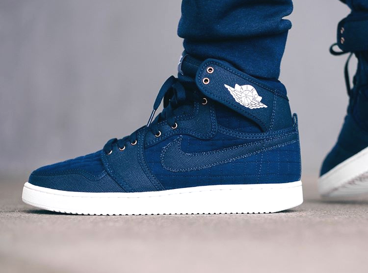 Air Jordan 1 High AJKO 'Quilted' Obsidian Denim