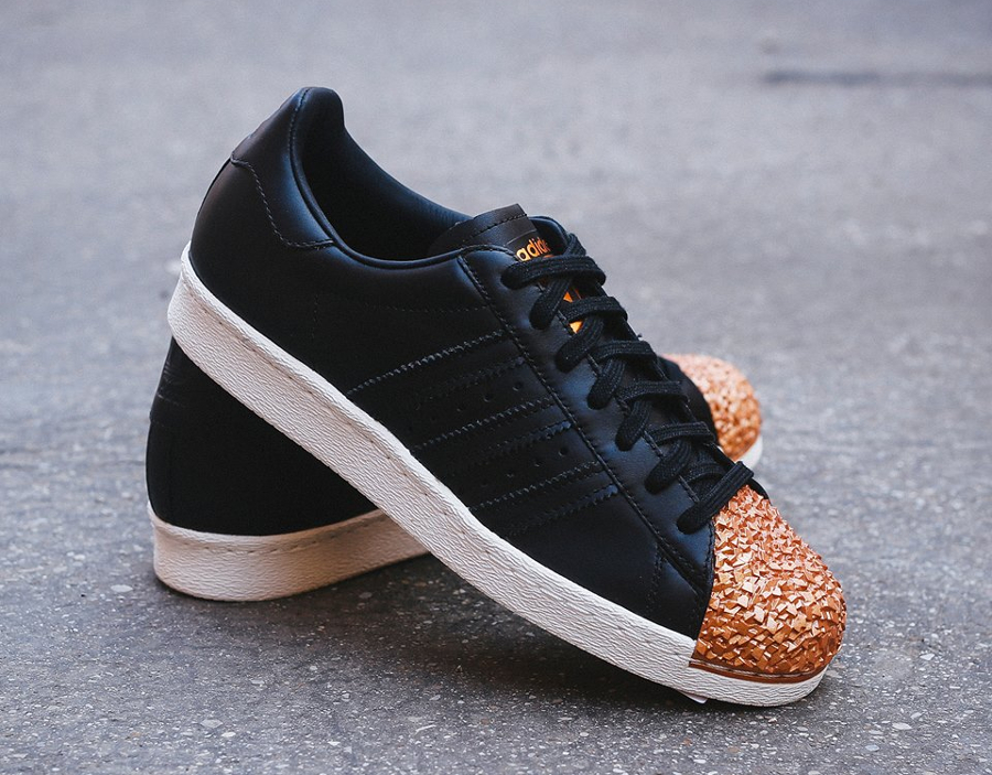 Adidas Superstar 80s Metal Toe TF W Black Bronze Copper Metallic (1)