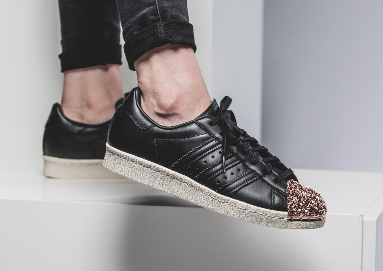 Adidas Superstar 80s Metal Toe TF W Black Bronze Copper Metallic (3)