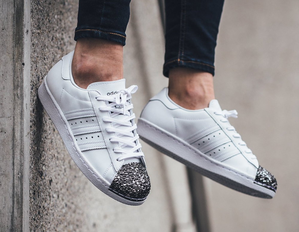 acheter Adidas Superstar 80's Metal Toe TF W White Silver Metallic (2)