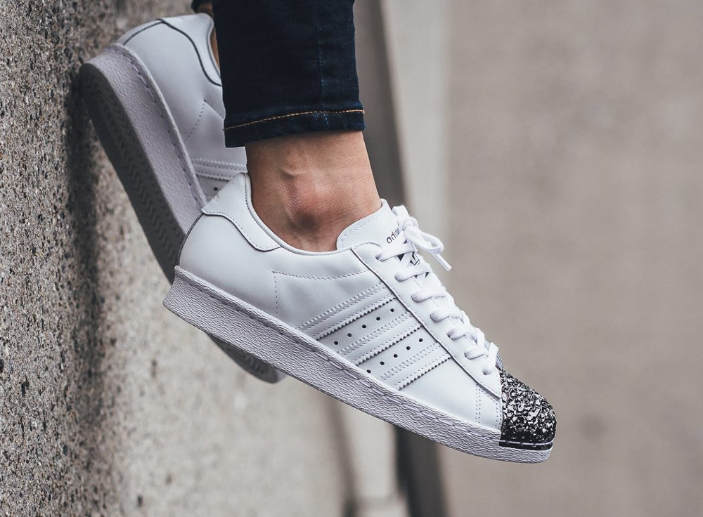 Adidas Superstar 80's Metal Toe TF W White Silver Metallic (3)