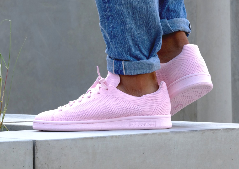 Adidas Stan Smith PK Primeknit 'Pink Glow & Green'