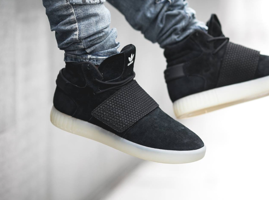 adidas tubular invader strap all black