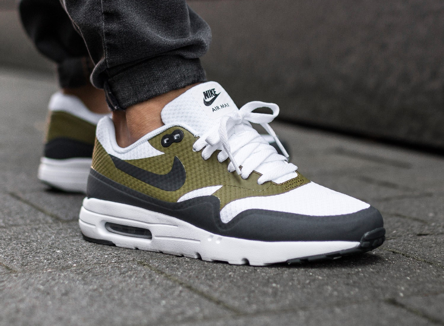 Nike Air Max 1 Ultra Essential 'White Anthracite Olive'