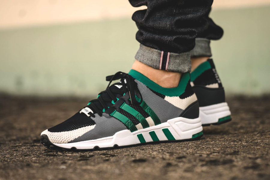 Adidas Eqt Support 93 Black Grey Green