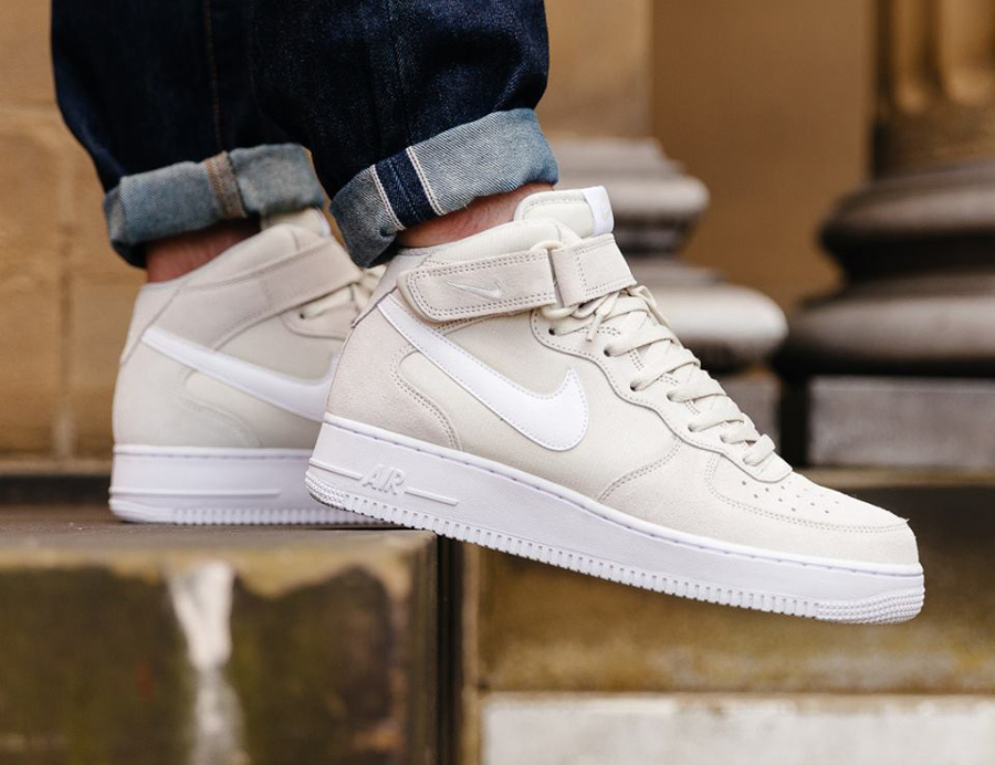 new product f5093 d3655 avis basket Nike Air Force 1 Mid 07 Blanc Casse