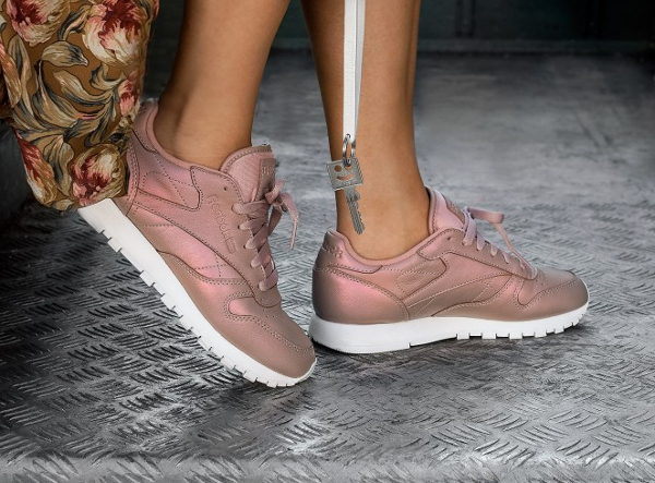 Reebok Rose Gold Pearlized theater
