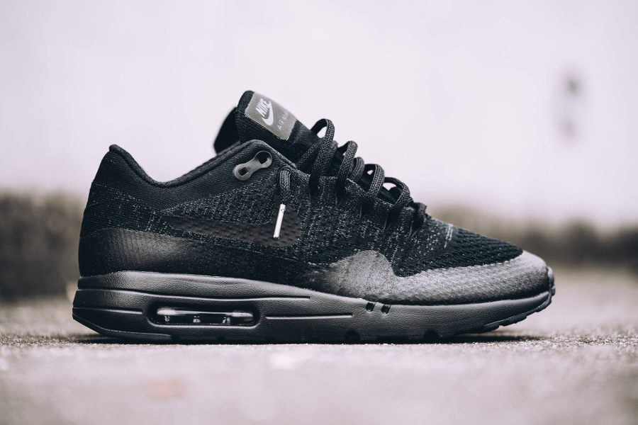 Nike Air Max 1 Ultra Flyknit 'Triple Black' (homme)