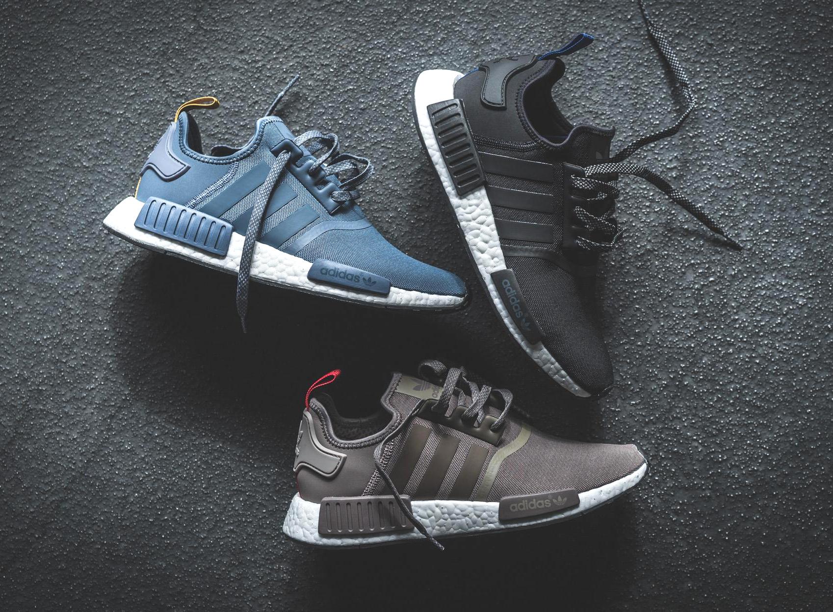 Adidas NMD R1 (marron, noir & bleu clair)