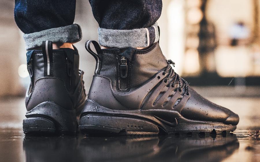 5b20260a276 nike presto utility homme. Chaussure Nike Air Presto Utility Mid Triple  Black 2