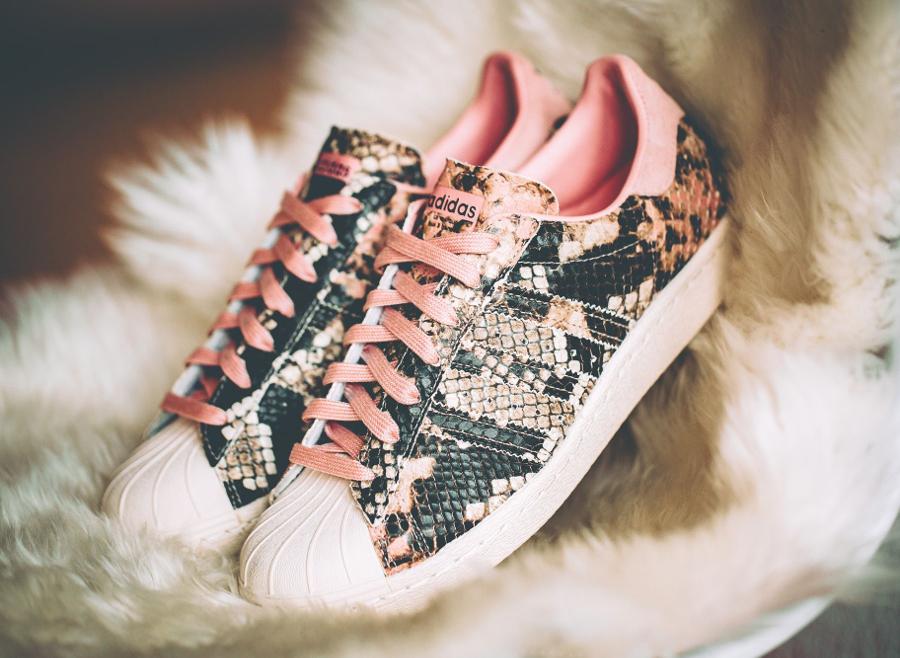 Adidas Superstar 80's W 'Snakeskin' Vapour Pink