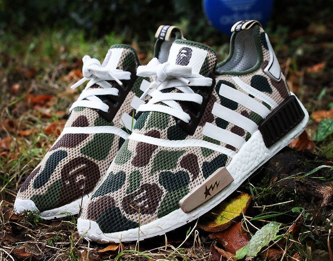 15 sneakers inspirées par Bape : Air Jordan 4, Adidas NMD R1…