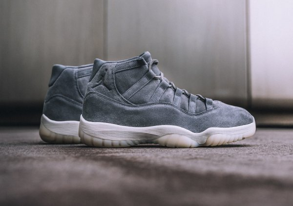 Air Jordan 11 Retro PRM 'Grey Suede'