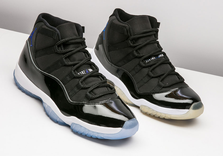 new product 77a2f 1d537 Air Jordan 11 Space Jam On Feet