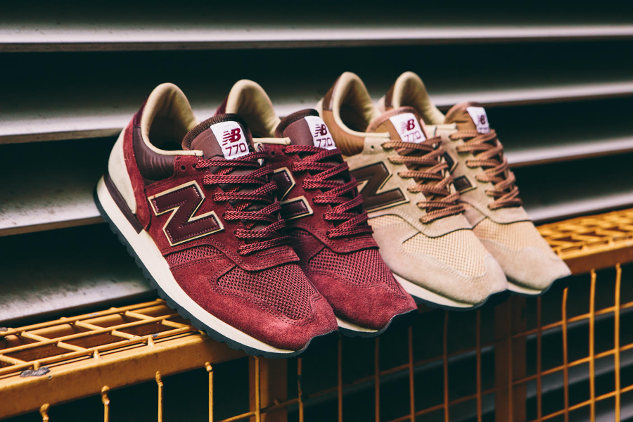 New Balance M770RBB Burgundy & M770BBB Beige 'Made in UK'